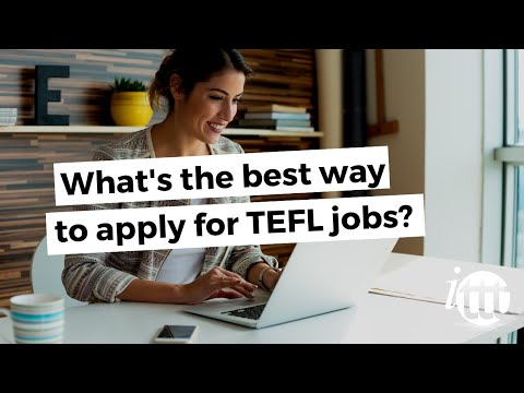 video answering how to apply for a TEFL job