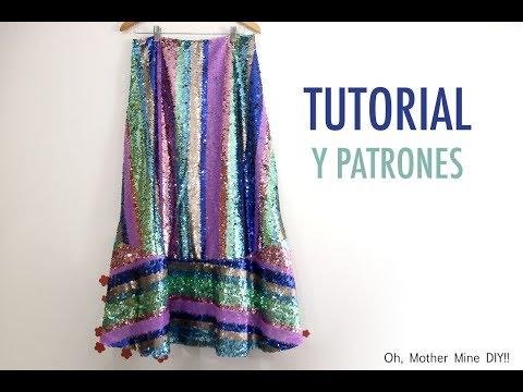 Patrones falda de lentejuelas para mujer (gratis en varias tallas)