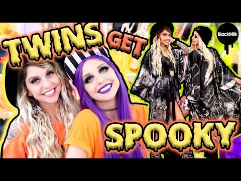 TRYING ON HALLOWEEN CLOTHES WITH MY TWIN!! | BlackMilk Neon Demons Collection ft. Poletti Twins - UCiWbNSajTR_7gxfjaXxExJQ