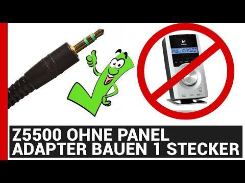 Z5500 ohne Panel - Adapter bauen Stereo Sound 1x 3,5mm Klinkenstecker - Belegungsplan Z 5500
