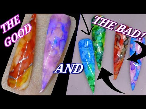 MARBLE INKS - MY FAILS AND THE SUCCESSES! | ABSOLUTE NAILS