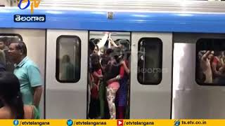3 Lakh People Travelling Every Day | in Metro Trains at  Hyderabad