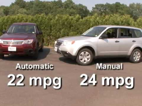 Do you get better gas mileage with a manual transmission? Youtube.
