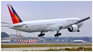 [4K] PHILIPPINE AIRLINES BOEING 777-3F6(ER) LAX ARRIVAL - PLANE SPOTTING - JULY 2019