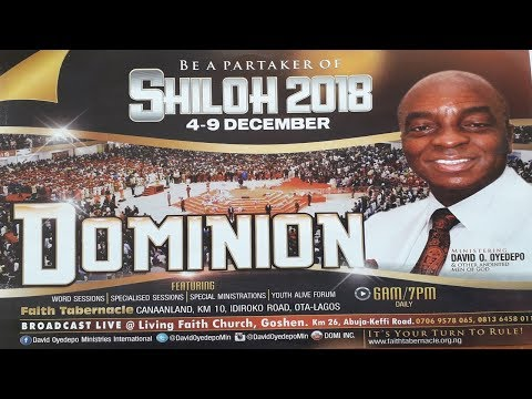SHILOH 2018 DAY 5: IMPARTATION OF THE SPIRIT OF DOMINION