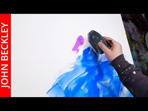 Abstract Painting Acrylic demonstration step by step | it's a miracle | John Beckley