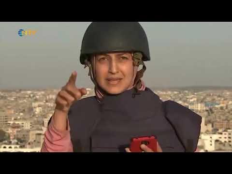 NTV   Füzeler gazetecileri teğet geçti