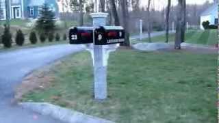 Granite Mailbox & Lantern Post Installed - YouTube