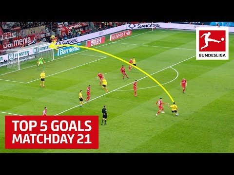 Top 5 Goals on Matchday 21 - Can, Hummels, Chandler & More