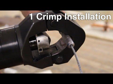 Cable Pull 1 Crimp Installation