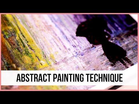 Acrylic Abstract Painting Technique for Beginners | Art Journal Thursday Ep. 25