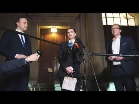 Merkel recibe a Tijanóvskaya mientras crece la tensión diplomática con Minsk