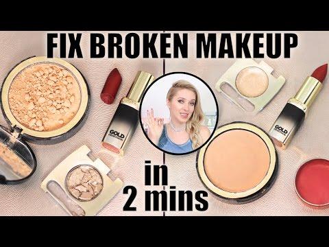 How to FIX broken makeup in 2 mins: eyeshadows, powder, lipstick! Life-changing makeup hack: - UCeRF3k69cJnxB87lwk9KbrA