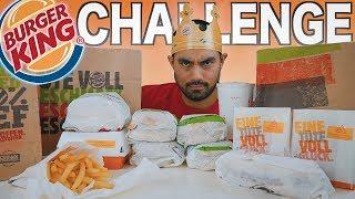 German BURGER KING Chicken MENU CHALLENGE