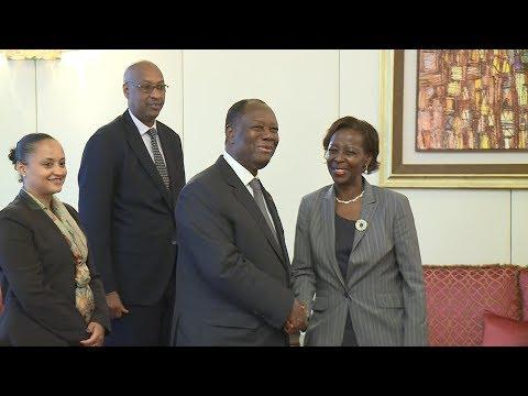 Entretien du Chef de l'Etat avec Louise MUSHIKIWABO, Ministre Rwandaise des Affaires Étrangères