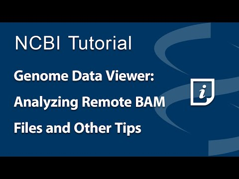 VIDEO: Genome Data Viewer: Analyzing Remote BAM Alignment Files and Other Tips