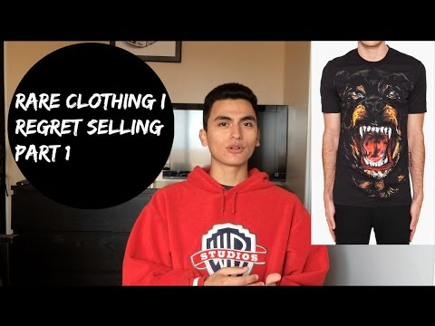 Rare Clothing/Sneakers I Regret Selling! (Part 1!)