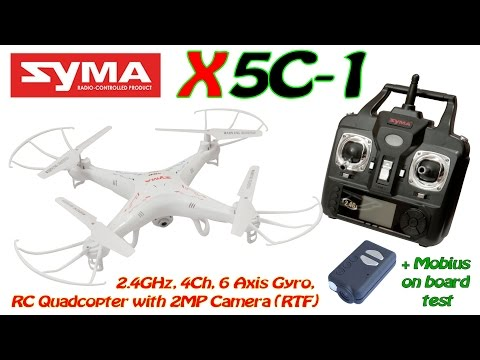 Syma X5C-1 2.4GHz, 4Ch, 6 Axis Gyro, RC Quadcopter with 2MP Camera (RTF) + Mobius - UC8Pp5wqa4mPIdtAYkGH2Pzw