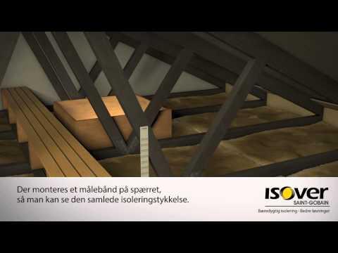 Efterisolering af loft med ISOVER Granulat