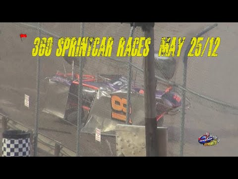 360 Sprintcar Races May25/12 @ Ohsweken Speedway The Archive - dirt track racing video image