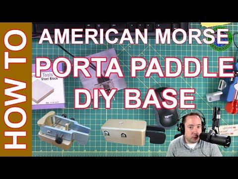 Ham Radio Morse Code CW - American Morse Porta Paddle DIY Base