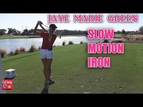 JAYE MARIE GREEN SLOW MOTION DTL IRON GOLF SWING 1080 HD