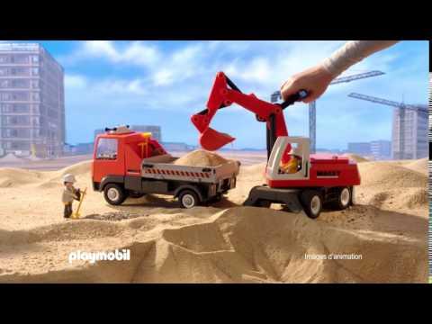 PLAYMOBIL - Le camion de chantier et le tractopelle (Français)