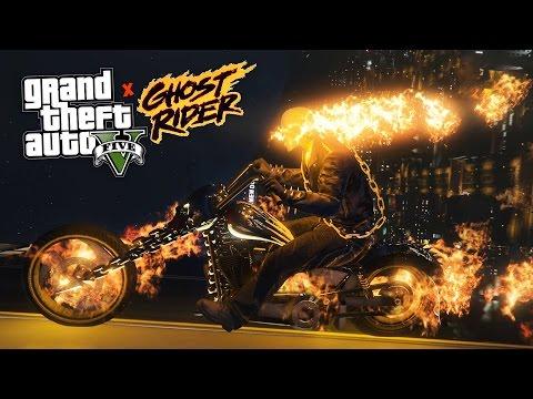 GTA 5 Mods - GHOST RIDER POLICE PATROL! GTA 5 Ghost Rider LSPDFR Mod