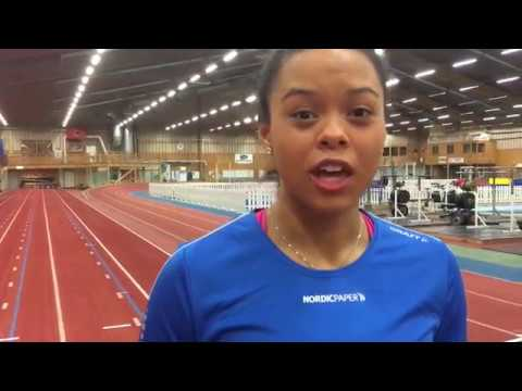 Claudia Pyton, sprint athletes fråm Karlstad in Sweden cooperate with Nordic Paper and their kraft paper division.