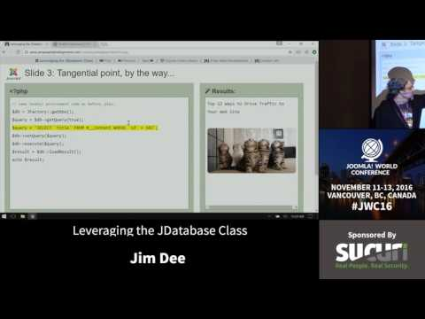 JWC 2016 - Leveraging the JDatabase Class - Jim Dee