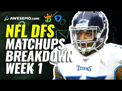 Week 1 Matchups Breakdown for Daily Fantasy NFL | NFL DFS Strategy