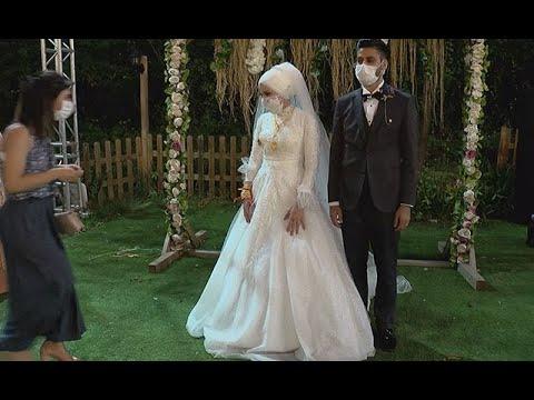 Yasak kalktı sosyal mesafeli düğün sezonu açıldı