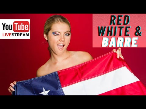 Red, White, & BARRE Live class!