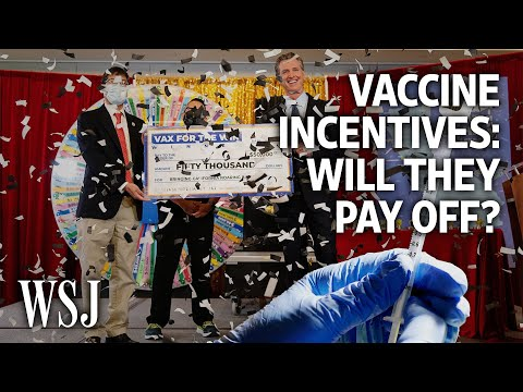 Are Covid-19 Vaccine Incentives Paying Off?   WSJ – Wall Street Journal (YouTube)