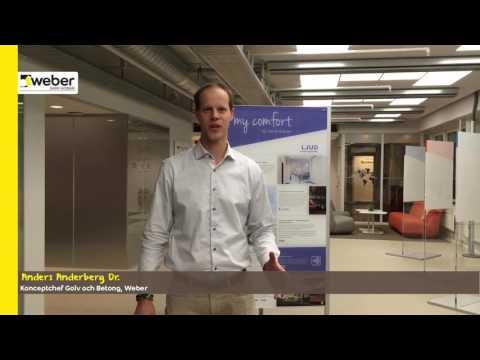 weberfloor acoustic - ett nytt ljudgolvsystem från Weber