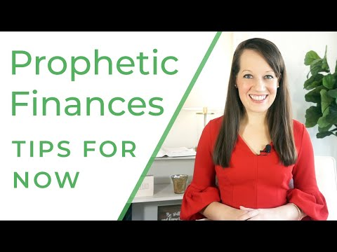 Prophetic Finances: What to do right now financially