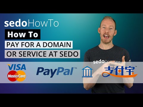 How to Pay for a Domain or Service at Sedo