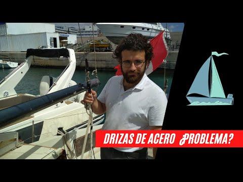 Comprobando DRIZAS (halyards) mitad CABLE DE ACERO y mitad CABO sin subir al palo ⛵😱