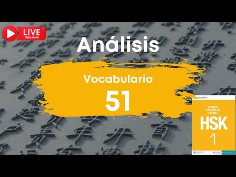 🔴 EN DIRECTO | Análisis de los vocabularios HSK 1 palabra 51 | Chino mandarín