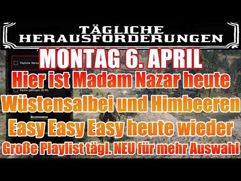 Montag 6. April Täglichen Herausforderung Dailys Nazar Red Dead Redemption 2 Online