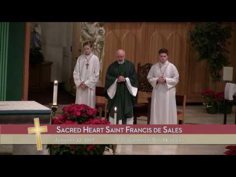 1/29/17 - Sacred Heart Saint Francis de Sales
