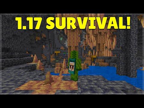 🔴Minecraft 1.17 Survival   NEW Grimstone & Re textured Ores Added!🔴