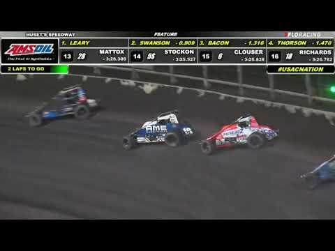 USAC AMSOIL National Sprint Car Highlights   Huset's Speedway USAC Nationals   9/11/2021 - dirt track racing video image