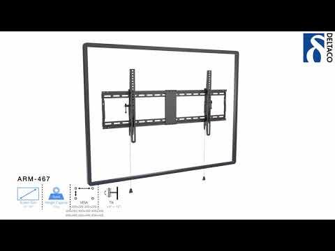 DELTACO Väggfäste för TV/Skärm - installationsanvisning ARM-467