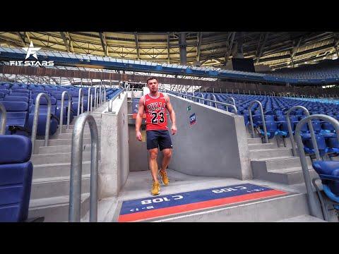 Тренировка на лестнице от Дениса Вовка и Полины Чераневой