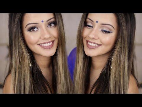Indian Get Ready With Me | Blue Winged Eyeliner Look - UC5lRKBgDMpPas8-VP3wsh0A