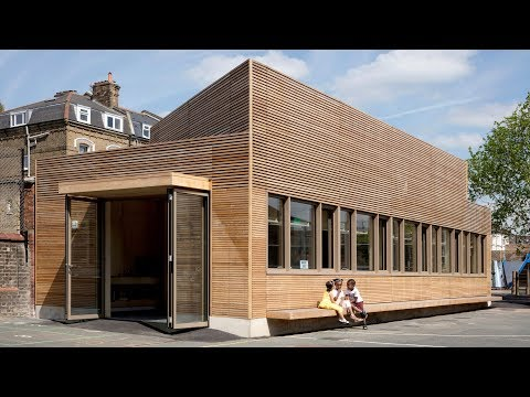AY Architects adds timber science laboratory to London school