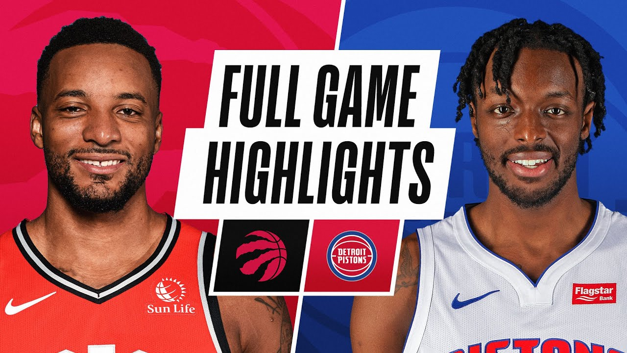 RAPTORS at PISTONS | FULL GAME HIGHLIGHTS | March 17, 2021