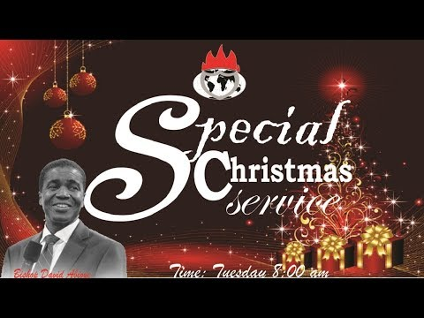 SPECIAL CHRISTMAS SERVICE - DECEMBER 25, 2018