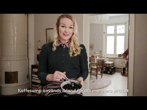 Emma Sundh marinerar grönsaker med kaffe